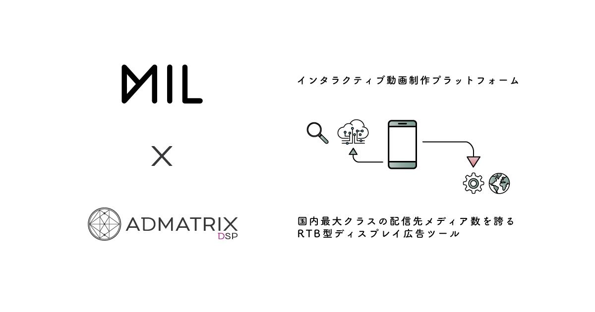 株式会社クライドが開発販売を行うADMATRIX DSPは、新たにMILと連携し、インタラクティブ動画広告の提供を開始いたしました。